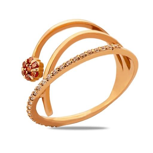 14 Ayar Rose Altın Roberto Bravo Orange Art Yüzük