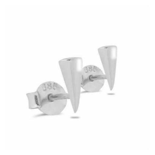 Üçgen Küpe Modeli 14 Ayar Beyaz Altın
