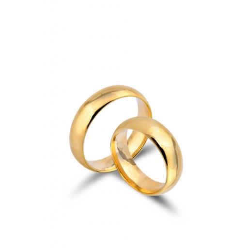 2 Adet 14 Ayar Sarı Altın Klasik Alyans L3