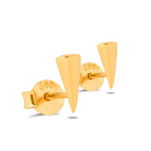 Üçgen Küpe Modeli 14 Ayar Yeşil Altın