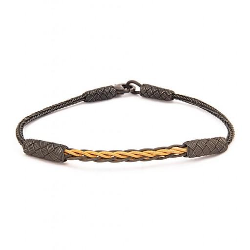 Emperor  Gümüş Roman Rope Bileklik