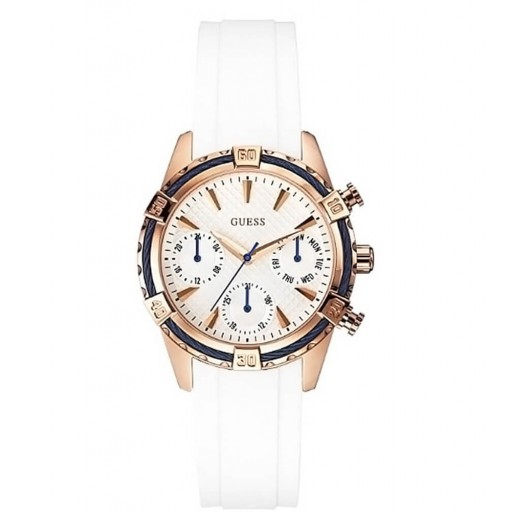 Guess Guw056l1 Beyaz Slikon Kordon Bayan Saati