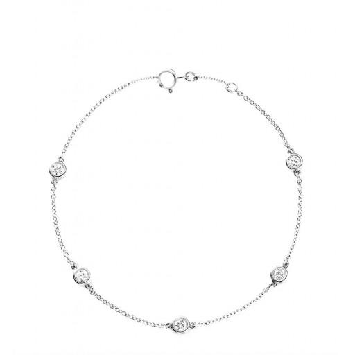 Diamonds&Love  Altın Kristalize Bileklik