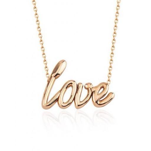 Özel Nizamyan Koleksiyonu 14k Rose Altın Love Kolye