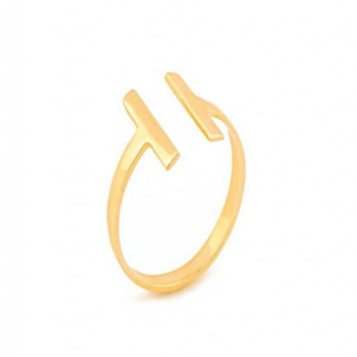14 Ayar Altın Tiffany Tarzı Modern Yüzük